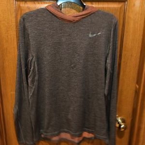 Nike Dri fit lightweight hooded pullover.  Size L.